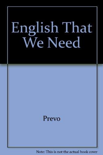 9780883232125: English That We Need