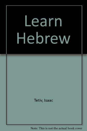 9780883280119: Learn Hebrew A Comprehensive Course in Modern Hebrew