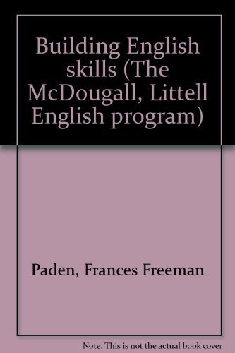 9780883435007: Building English skills (The McDougall, Littell English program)