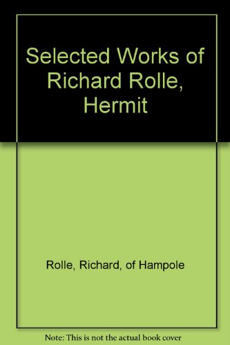 9780883558652: Selected Works of Richard Rolle, Hermit