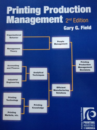 9780883625934: Printing Production Management, 2D Ed