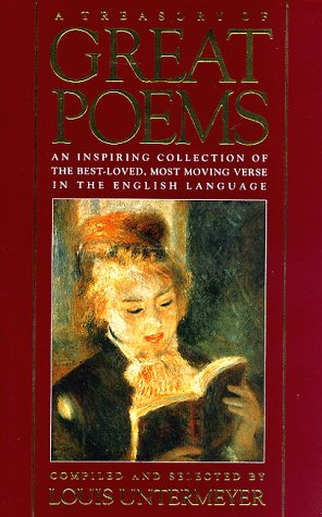 9780883657966: Treasury of Great Poems: An Inspiring Collection of the Best-Loved, Most Moving Verse in the English Language