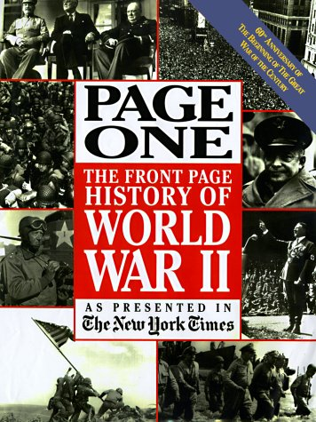 Page One The Front Page History of World War II