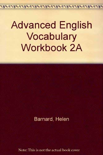 9780883770375: Advanced English Vocabulary Workbook