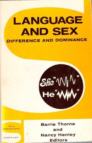 9780883770436: Language and Sex (Series in Sociolinguistics)