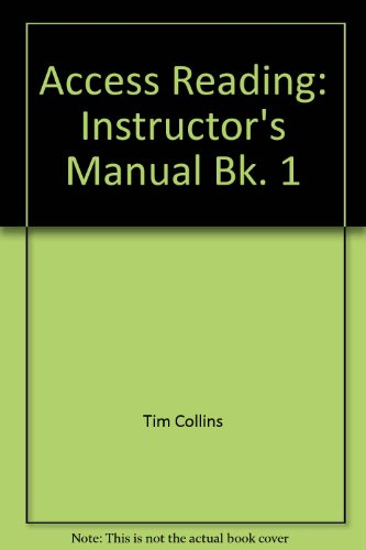 Access Reading: Instructor's Manual Bk. 1: Collins, Tim