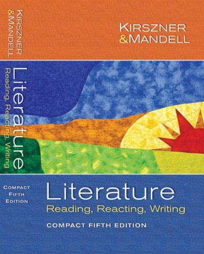 9780883771013: Literature: Reading Reacting Writing (Compact Fifth Edition)