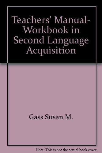 9780883772935: Teachers' manual, workbook in second language acquisition