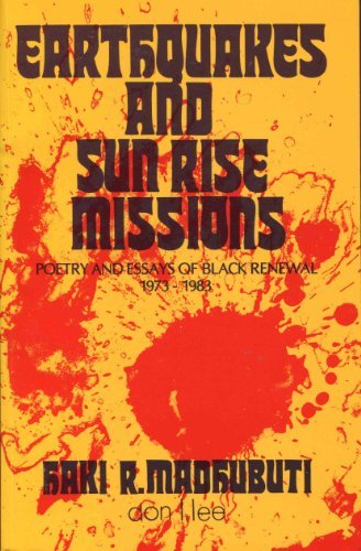 Earthquakes and Sun Rise Missions: Poetry and: Madhubuti, Haki R.