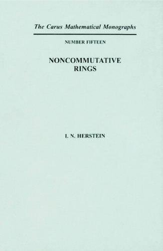 9780883850152: Noncommutative Rings