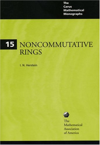 Noncommunicative Rings.: Herstein, I N