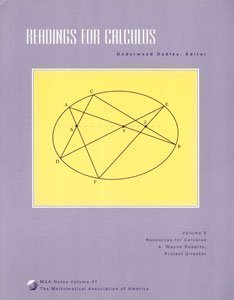 9780883850879: 5: Readings for Calculus: Resources for Calculus Collection : A Project of the Associated Colleges of the Midwest and the Great Lakes Colleges Associat (M A A NOTES)