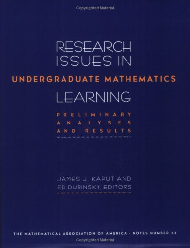 9780883850909: Research Issues in Undergraduate Mathematics Learning: Preliminary Analyses and Reports (M A A NOTES)