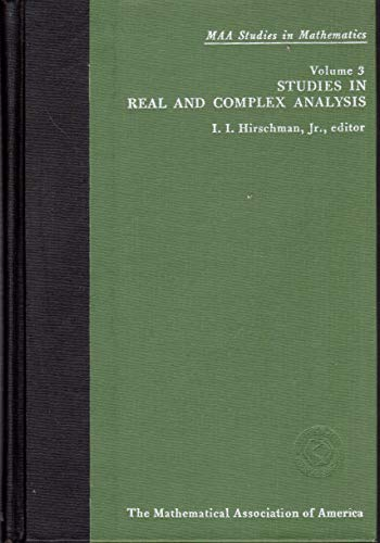 9780883851036: Studies in Real and Complex Analysis