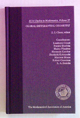 9780883851296: Global Differential Geometry (Studies in Mathematics, Vol 27)