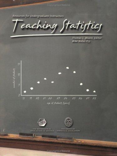 9780883851623: Teaching Statistics: Resources for Undergraduate Instructors