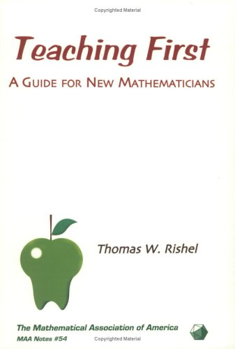 9780883851654: Teaching First: A Guide for New Mathematicians: 54