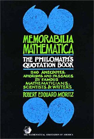 9780883853214: Memorabilia Mathematica (Maa Notes)