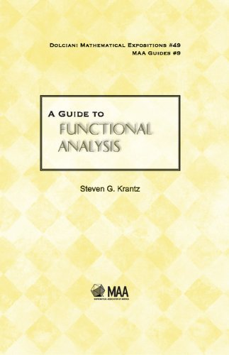 9780883853573: A Guide to Functional Analysis (Dolciani Mathematical Expositions)