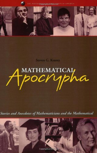 9780883855393: Mathematical Apocrypha: Stories and Anecdotes of Mathematicians and the Mathematical