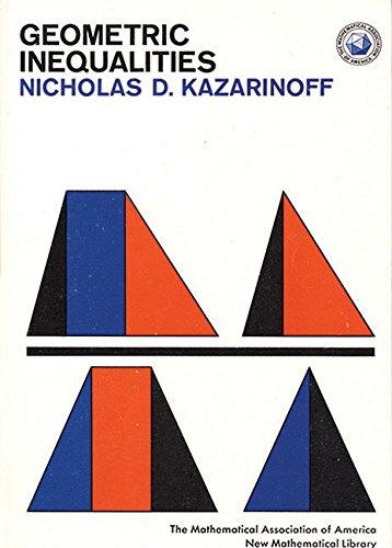 9780883856048: Geometric Inequalities (New Mathematical Library)