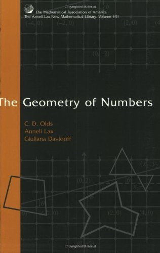 9780883856437: The Geometry of Numbers (Anneli Lax New Mathematical Library)