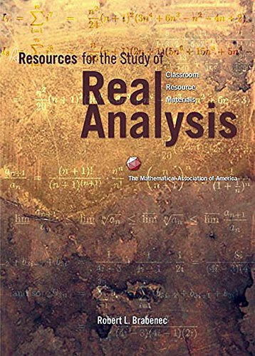 9780883857373: Resources for the Study of Real Analysis Hardback (Classroom Resource Materials)