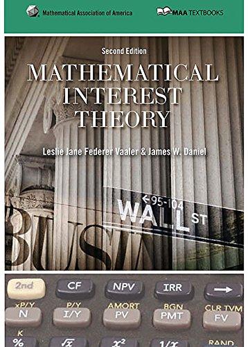 9780883857540: Mathematical Interest Theory (Mathematical Association of America Textbooks)