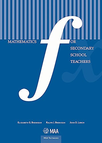 9780883857731: Mathematics for Secondary School Teachers (Maa Textbooks)