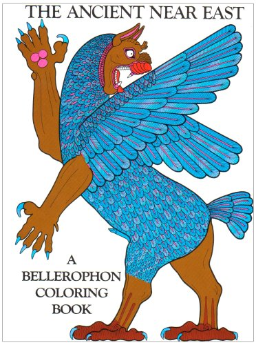 9780883880029: The Ancient Near East Coloring Book (A Bellerophon coloring book)