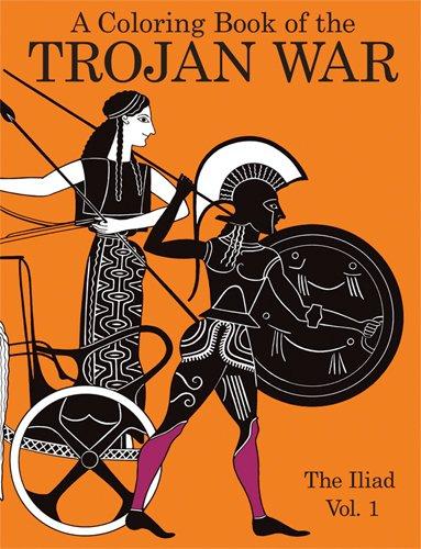 9780883881798: A Coloring Book of the Trojan War: The Iliad Vol. 1