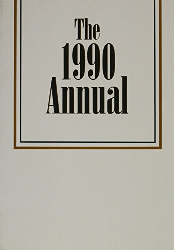 The Annual, 1990 (Pfeiffer Annual)