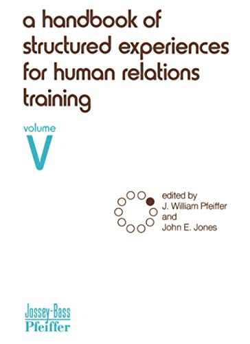 9780883900451: Handbook Structured Human V: 5 (Handbook of Structured Experiences for Human Relations Train)