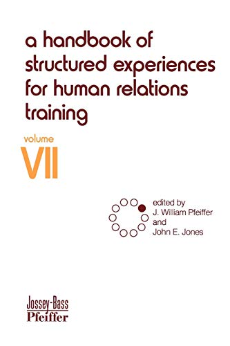9780883900475: A Handbook of Structured Experiences for Human Relations Training, Volume 7