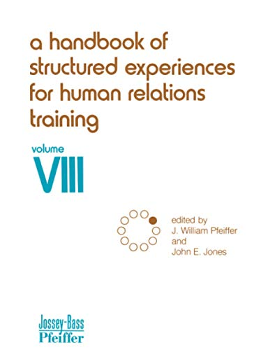 9780883900482: A Handbook of Structured Experiences for Human Relations Training, Volume 8
