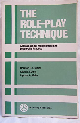 9780883901045: The Role-Play Technique: A Handbook for Management and Leadership Practice