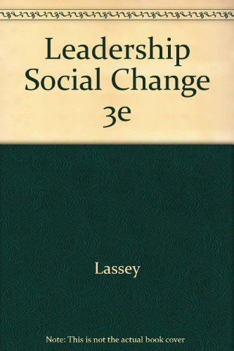 9780883901793: Leadership Social Change 3e