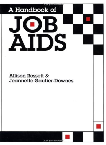 9780883902905: A Handbook of Job Aids