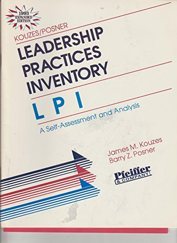 9780883903582: Leadership Practices Inventory (Lpi): Self-Assessment and Analysis (4pp Instrument and 30pp Participant's Manual)