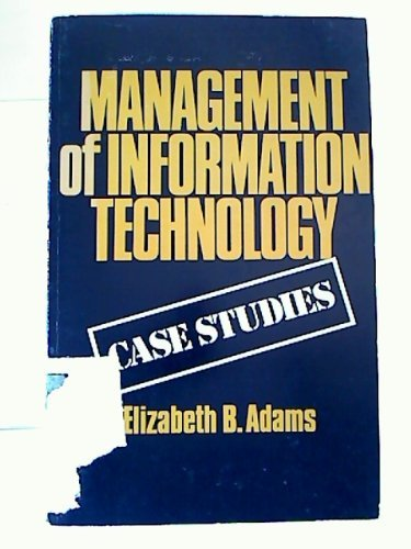 9780884052968: Management of Information Technology: Case Studies