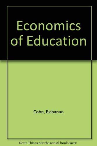 9780884101857: The Economics of Education