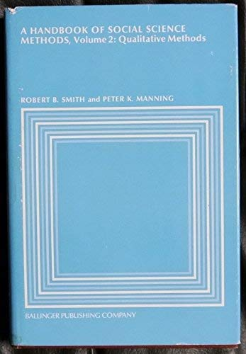 9780884109099: Handbook of Social Science Methods: Qualitative Methods v. 2