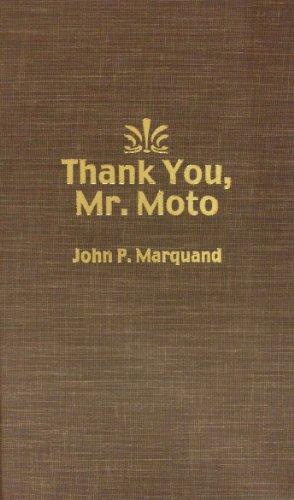 9780884111429: Thank You, Mr. Moto