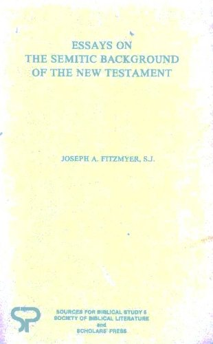 9780884140405: Essays on the Semitic Background of the New Testament