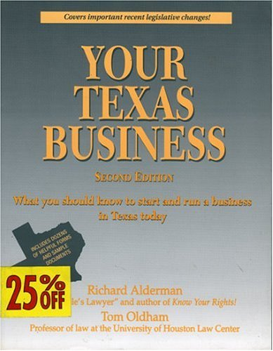 9780884150244: Your Texas Business: Everything You Should Know to Start and Run a Business in Texas Today