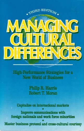 Managing Cultural Differences: Philip R. Harris,