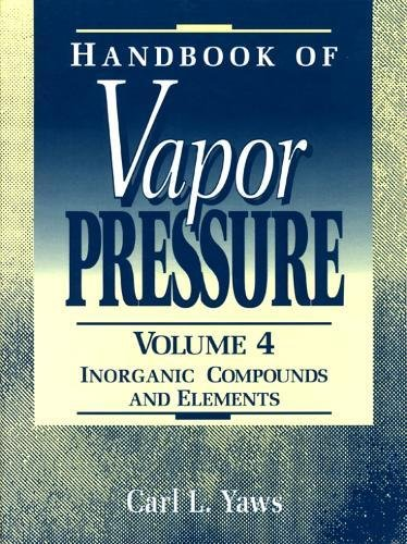 9780884153948: Handbook of Vapor Pressure: Volume 4: Inorganic Compounds and Elements (Library of Physico-Chemical Property Data)
