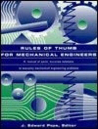 9780884157908: Rules of Thumb for Mechanical Engineers