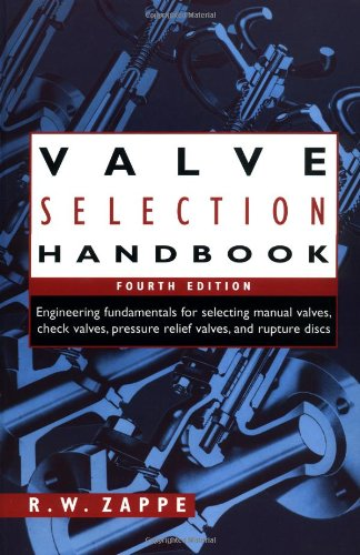 9780884158868: Valve Selection Handbook: Engineering Fundamentals for Selecting Manual Valves, Check Valves, Pressure Relief Valves, and Rupture Discs
