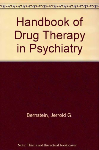 9780884165781: Handbook of Drug Therapy in Psychiatry